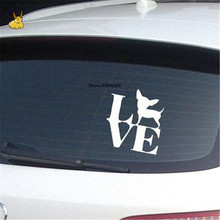 15*14cm Love Chihuahua Funny Dog Car Sticker Cartoon Animal Vinyl Decal wall sticker for peugeot 2008 toyota avensis suzuki sx4(China)