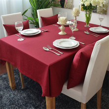Christmas Table Cloth Polyester/Cotton Red Jacquard Table Cover For Wedding Hotel Party Tablecloth Rectangular/Round Table(China)