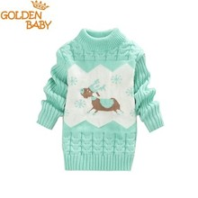 Hot Sale 2017 Infant Baby Boys Girls Children Kids Knitted Winter Autumn Pullovers O-Neck Warm Outerwear Boy Sweaters 8 Color(China)