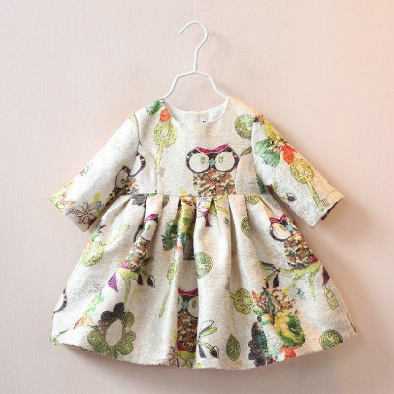 2017 New designed kids girls princess dress baby girls cartoon dress beautiful girls fall winter clothes 2-8Yrs<br><br>Aliexpress