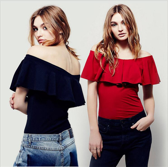 2017 Fashion Summer Tumblr Off Shoulder T Shirt Crop Top Blusa For Women Tops Slim Tee