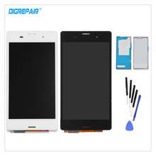 "Buy 5.0"" Black/White Sony Xperia Z3 D6603 D6643 D6653 D6616 L55T LCD Display Digitizer Touch Screen Assembly Part+Adhesive+Tools for $17.99 in AliExpress store"