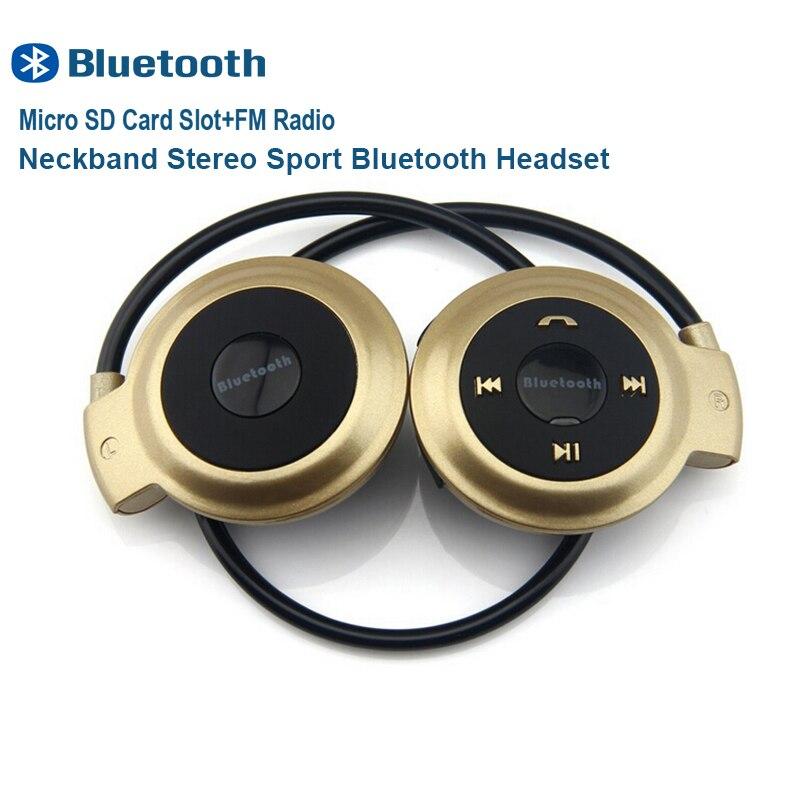 Neckband Sport Mini Bluetooth Headset Wireless Headphones Stereo Earphones Micro SD Card Slot FM Radio for Samsung iPhone Huawie<br><br>Aliexpress