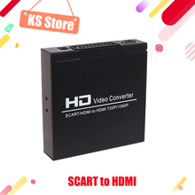 kebidumei New High Quality SCART/HDMI to HDMI 720P 1080P HD Video Converter Monitor Box for HDTV DVD STB Free Shipping(China)