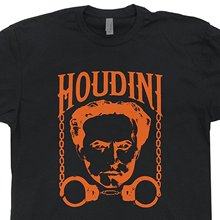 GILDAN Harry Houdini T Shirt Magic Magician Tricks poster Las Vegas graphic