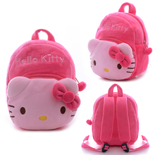 KAWAII !! Plush 2 Layer Hello Kitty Backpacks Cartoon Schoolbags Best Chirstmas Gifts for Kids Girls 1-3 Years Olds 8.16*8.16''(China)