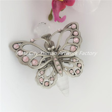 60PCS /CTN Bee Pupa Butterfly Refillable Metal Crystal Perfume Bottle Retro Vintage Empty Glass 5ml Gift