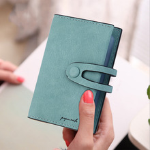 Wallet Female 2017 Fashion Art Frosted Lady Short Women Hasp Mini Purse Fold PU Leather Bags Female Coin Purse