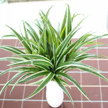 Artificial Imitation Plastic Green Long Leaves Grass Chlorophytum Plant Home Garden Office Decor DIY