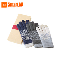 Original Xiaomi Finger Screen TouchGloves Winter Warm WoolGloves For iphone 6 7s Xiaomi Touch Screen Phone Tablet Cash Machine