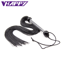 Newest Arrival Fashion Rubber Flogger Whip With Metal Handle Sex Spanking Leather Whips Sex Games Toys For Adult VP-WP001003A(China)