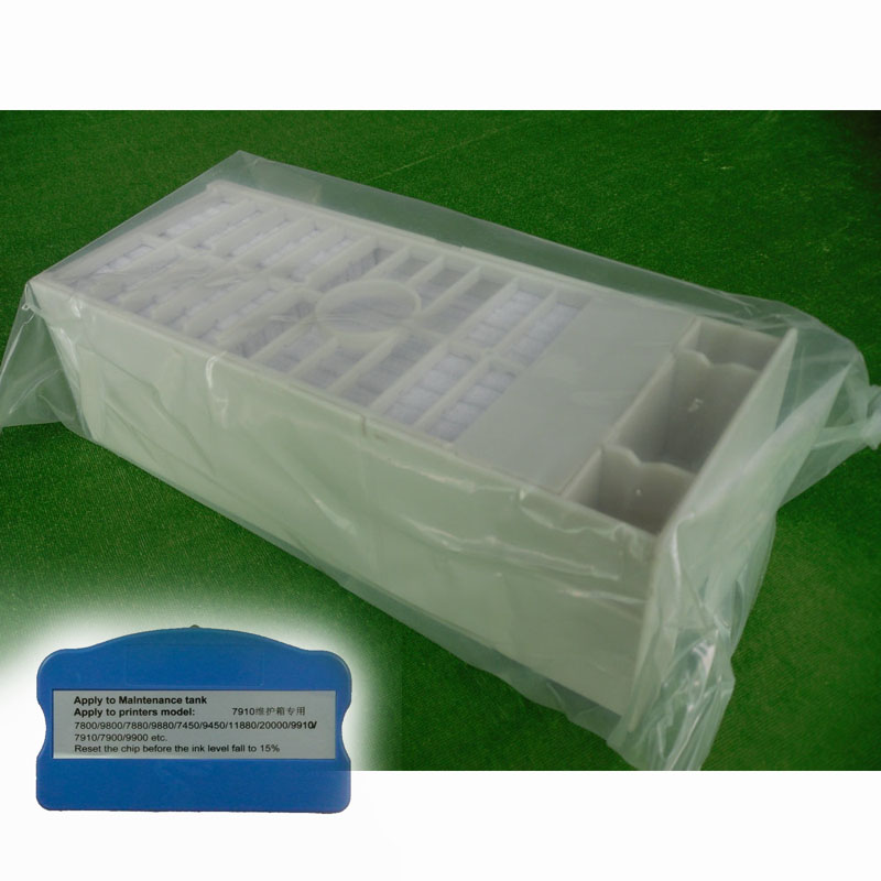 Free Shipping Maintenance tank For EPSON 7890 9890 7900 9900 Maintenance Waste Tank With Resetter<br>