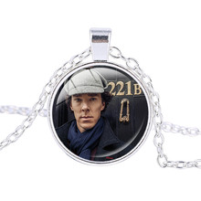 United Kingdom Television Sherlock Holmes 221B Necklace Vintage Bronze Pendants Silver Plated Pendant Jewelry