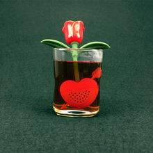 Reuseable Safe Silicone Rose Flower Tea Bag Strainer Coffee Punch Filter Infuser TB Sale(China)