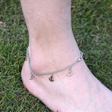 DIY 316L Stainless Steel Anklet Chain with Small Anchor Charms Stainless Steel Ankle Bracelet Foot Jewelry A015