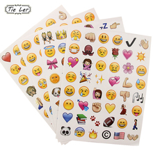 New Cute 48 Die Cut Emoji Smile for Laptop Wall Sticker Creative Multi-Functional Home Decorative Stickers(China)