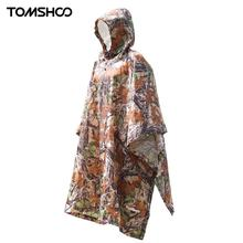 TOMSHOO 3 in 1 Multifunctional Outdoor Rain Poncho Backpack Rain Cover Waterproof Tent Awning Outdoor Camping Tent Mat(China)