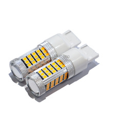 2pcs High Power W21W T20 7440 Super Bright Led Automotive Light Car 2835 smd 63 Led Parking Head Reverse Bulb Lamp   yellow