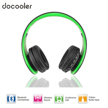 Docooler Bluetooth 4.1 Headphones Wireless Stereo Headsets earphones with Microphone support TF Card FM Radio for iPhone Samsung