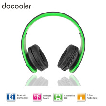Docooler Bluetooth 4.1 Headphones Wireless Stereo Headsets earphones with Microphone support TF Card FM Radio for iPhone Samsung(China)