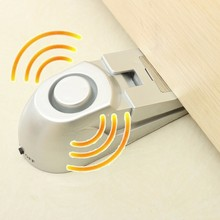 NEW Safurance 100dB Door Stopper Alarm Floor Rubber Warning Alarm System Wedge Shape Hinged Door Home Security(China)