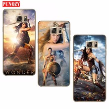 Case For SamSung Galaxy S8 Plus S6 S8 S7 Phone Shell Silicon Retour Cute Case Cover Wonder Woman Transparent Soft TPU Series(China)