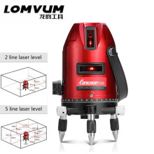 5 Lines laser line cross laser rotary 2lines Vertical and horizontal laser level selfing leveling with lithium battery tripod