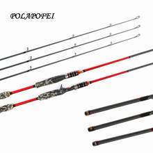 POLAPOFEI 3 Tips Carbon Spinning Rod Casting Rods Fishing Rod Fishing Pole Tackle Fly Feeder Peche fit for shimano reel C265