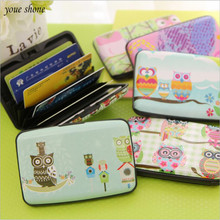 1Pcs/lot Korea Owl Business Card Bag Package Cute Women's Multi Name Card Bags Bank Cards Set Office Stationery Supplies(China)