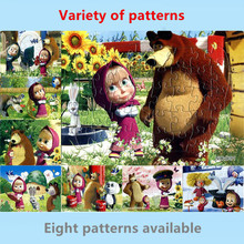 3D brinquedos Masha and Bear Princess toys for children Baby toys educational Puzles Paper jigsaw puzzles for children kids toys