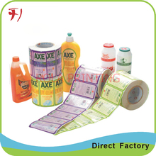 Customized    Direct manufacture printing custom self-adhesive labels for shampoo