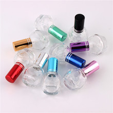 XYZ 9Colors 10ml 100 Pieces Empty Glass Spray Empty Bottles  cylindrical perfume bottle cosmetic packaging container