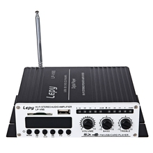 Lepy LP - V9S Multifunctional Mini Amplifier Car Hi-Fi Stereo Output Power Amplifiers Support FM Radio USB / SD Card Input