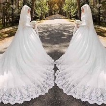 Buy 2018 Backlackgirl Muslim Elegance Hot New Pattern Exit Hui Wedding Dress Full Dress Tailored Muslim Wedding Dresses Full Dresses for $213.99 in AliExpress store