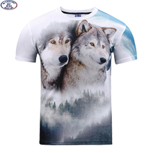 Mr.1991 12-20 years teens t-shirt for boys or girls 3D wolfs printed short sleeve round collar t shirt big kids hot sale A20(China)
