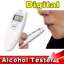 Professional Digital Alcohol Breath Tester LCD Display Blowing Breath Detector Analyzer Breathalyzer for Safety Driving(China)