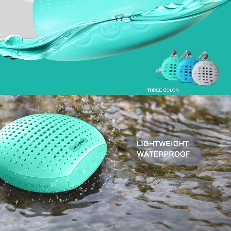 W-king Speakers Travel Outdoor Portable Speaker Waterproof Mini Wireless Speaker Shower for iPhone Handsfree Bluetooth Speaker