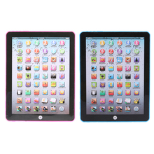Electric Tablet Simulated Touch Screen Ipad Kids Russian/English Learning Machine Educational Toy Random Color(China)