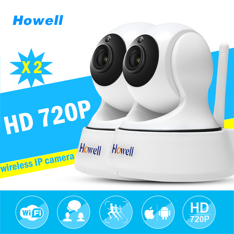 Howell Wholesale 2pcs NVR IP wifi mini CCTV Camera wi-fi 720P Surveillance Security Camera Baby Monitor IP Cam Motion Detection<br>