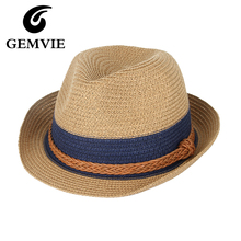 Summer Hats Hemp Rope Patchwork Striped Straw Sunhats For Women Men Summer Straw Hats Beach Visor Caps Panama Hat 2017(China)