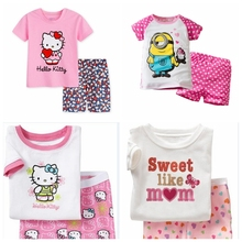 boys fashion animal pajamas kids minions sleepwear girls cartoon pyjamas hello kitty pajamas children night wear home wear