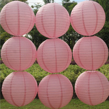 "10pcs/lot 12"" Pink Paper Lanterns Chinese Laterns Wedding Birthday Party Home Decoration Festive Supplies Baby Show Favors"