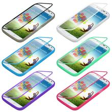 Phone Case Slim Clear Flip Silicone TPU Wrap Up + Built-In Screen Protector Protective Cover For Samsung Galaxy S3 S4 Mini i9190