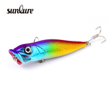 1pcs 3D Lifelike Popper Fishing Lure Pesca Fish Popper Lures 8cm/12g Fishing Wobblers Isca Artificial Baits Swimbait ZB9033