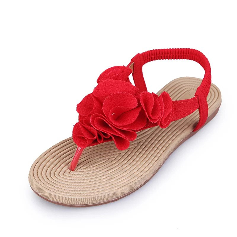 Vogue of new fund of 2017 summer joker flat Roman sandals, beach shoes pinch sexy flowers flip-flops for womens shoes<br><br>Aliexpress