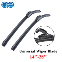 Oge 15''-28'' Universal Windshield Wiper Blades Silicone Rubber Window Windscreen Glass Clean Top Quality Car Accessories U Hook