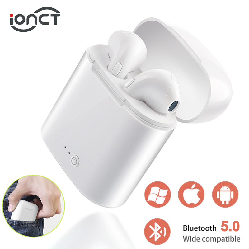 i7s TWS 5.0 Wireless Bluetooth Earphone Stereo Earbud Headset With Charging Box For All Bluetooth tablet Smart phone earphone (China)