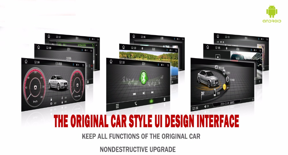 DLC android system car player navigation For Benz C-Class 2017 C180 200 220 250 300 350 400 450 GPS audio video Bluetooth GPS