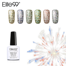 Elite99 Soak Off Starry Gel 3D Effect UV LED Glitter Nail Polish Manicure Bling Gel Varnish Polish for Nail Design(China)