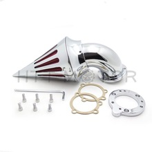 Aftermarket free shipping motor parts Spike Air Cleaner filter kits for  Harley Davidson  S&S custom CV EVO XL Sportster CHROME